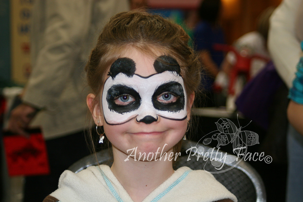 Panda face paint mask