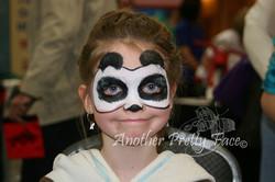 Panda face paint mask