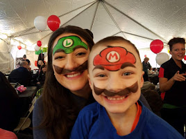 Mario and Luigi face paints