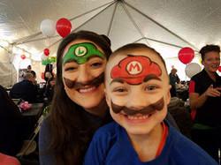 Mario and Luigi face paints