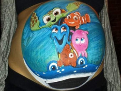 Finding Nemo belly art
