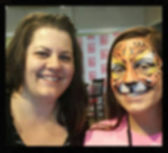 chicago face painter, face paint tiger, apf entertainment, mchenry family entertainment, mchenry face painting