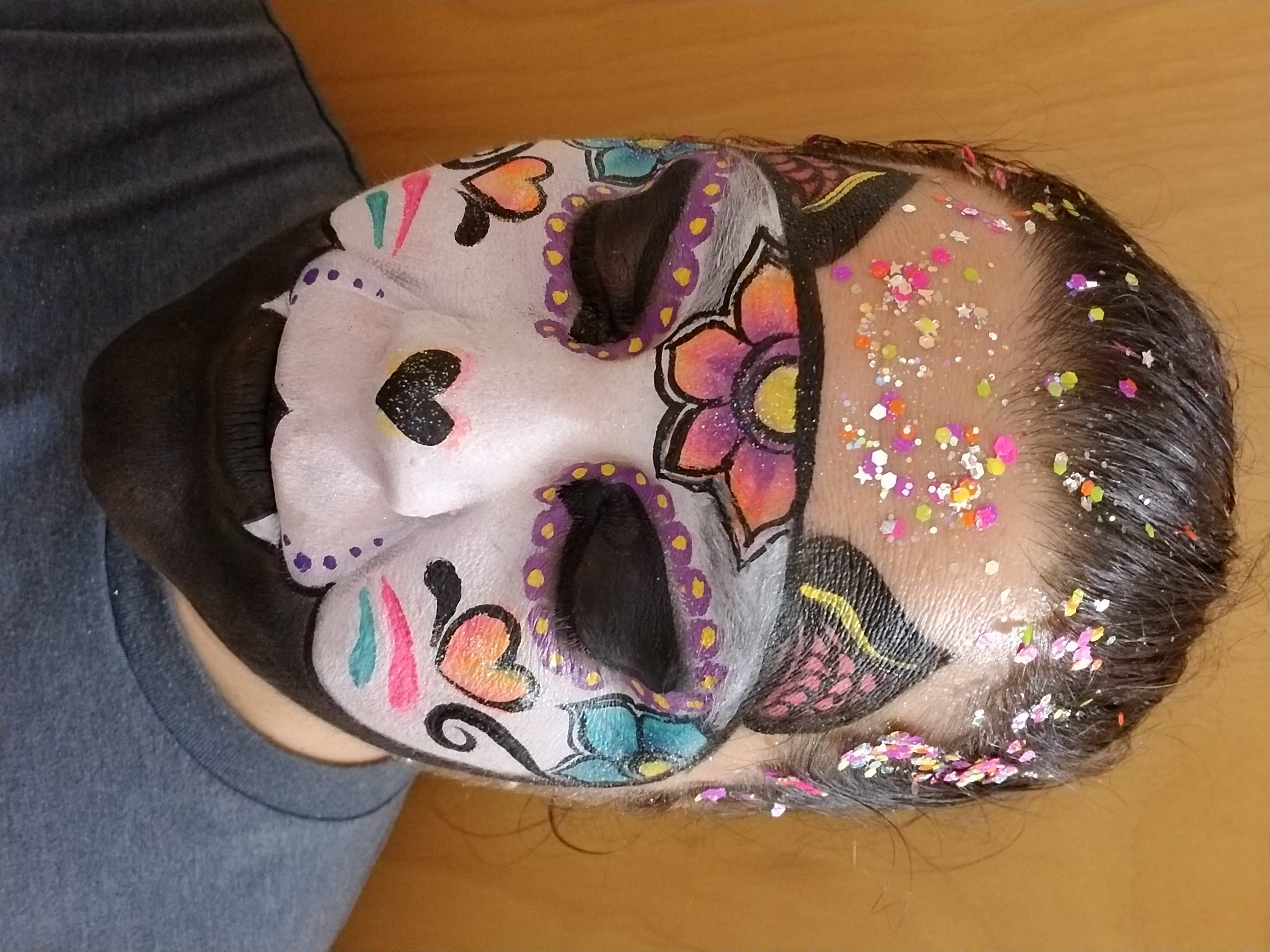 Ceramic cat inspired face paint
