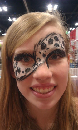 Fun animal print eye paint design