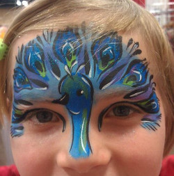 Peacock mask face paint