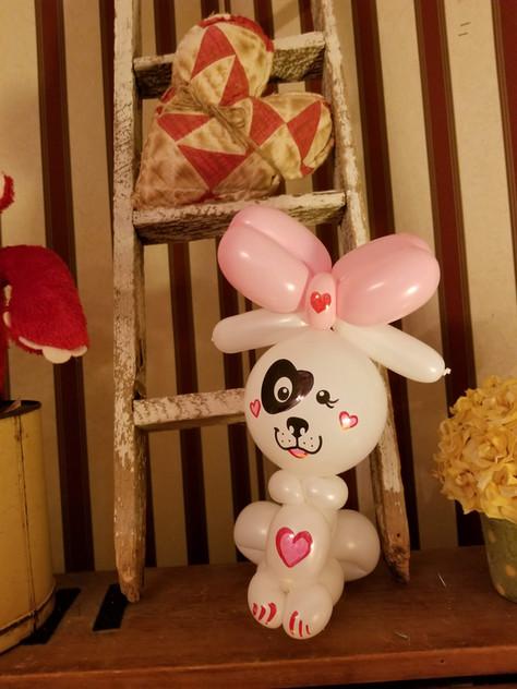 Valentine's Day Heart Puppy balloon animal