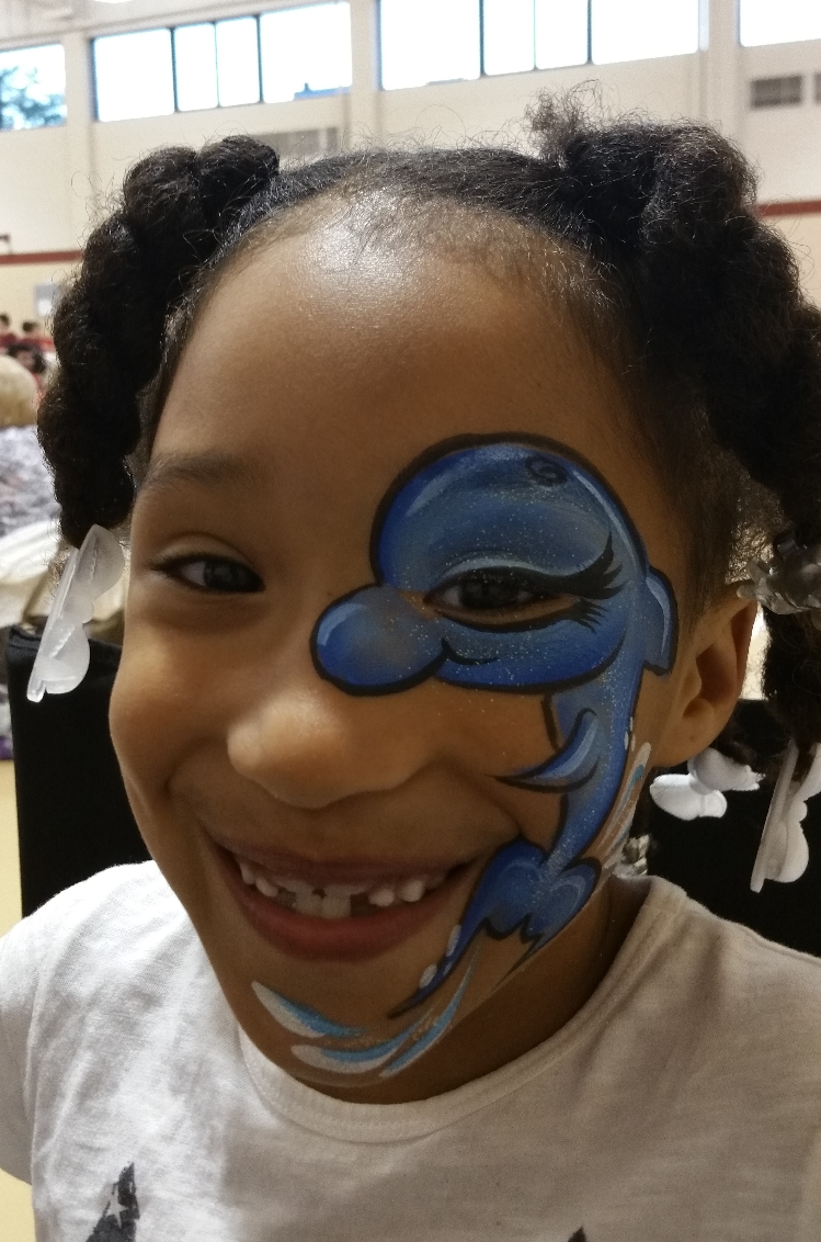 Dolphin eye face paint