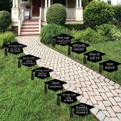 funny graduation yard signs