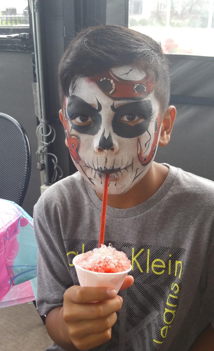 Snake skull face paint