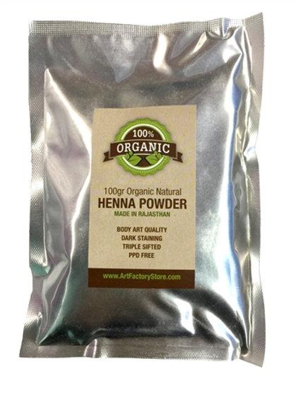 100g Organic Rajasthani Henna Powder 2018 Crop