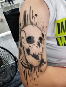 Techno Skull realistic temp tattoo