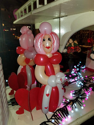 Valentine's Day princess balloon animal