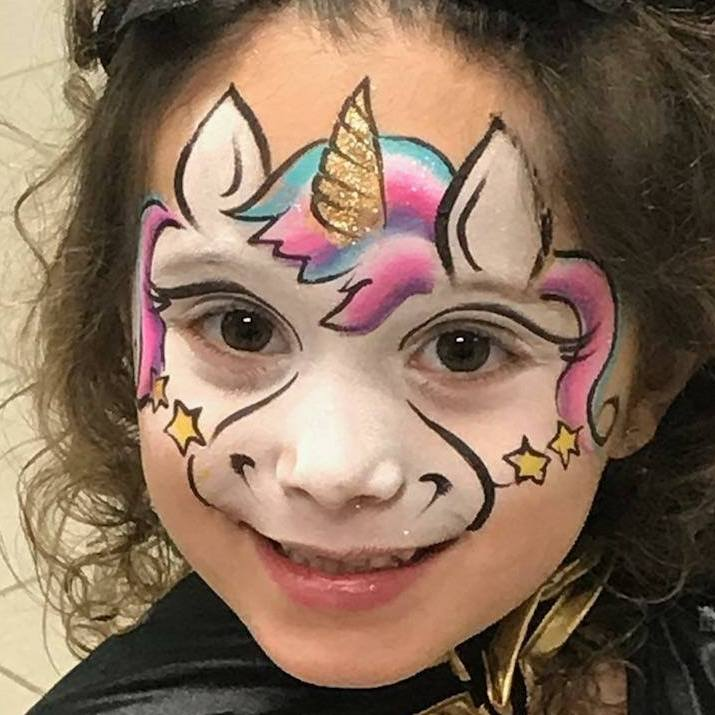 Full face unicorn mask