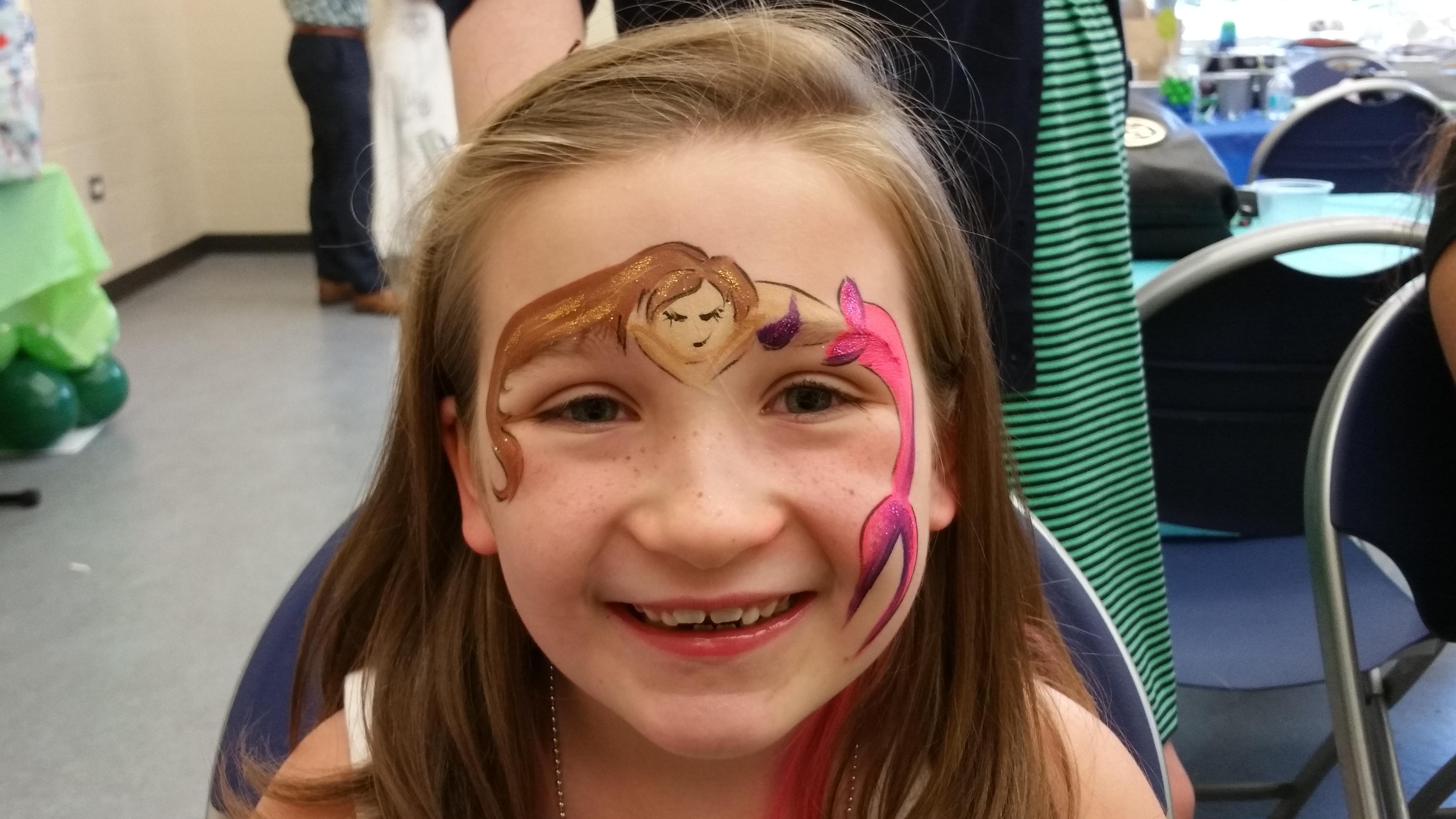 Mermaid over eye face paint