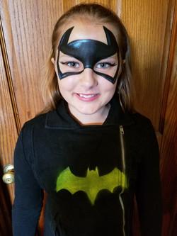 Batgirl face paint mask