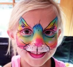 Rainbow kitty cat face