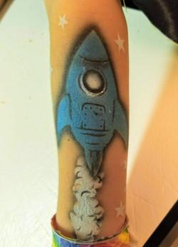 Rocket temporary tattoo