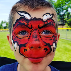 Red dragon face