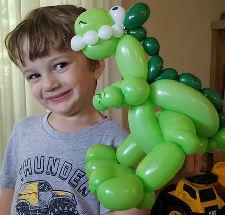 T Rex balloon animal