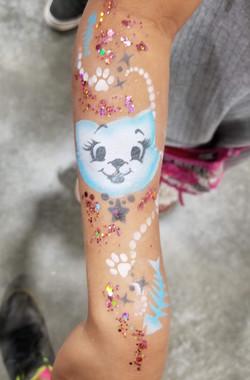 Kitty Cat temporary tattoo