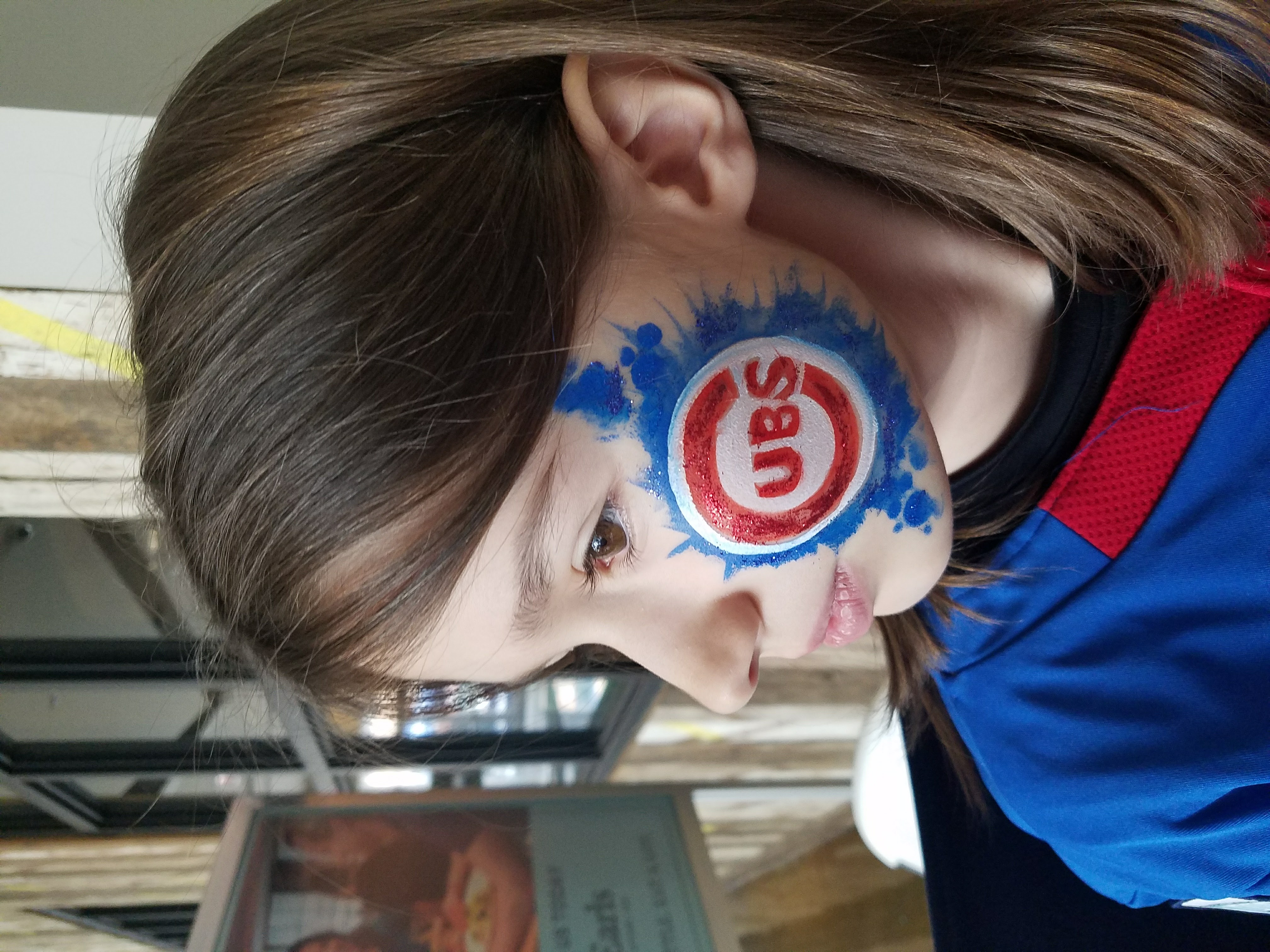 Chicago Cubs baseball face paint