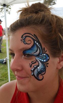 Glam eye face paint