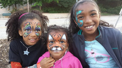 Sisterly love =) face paint