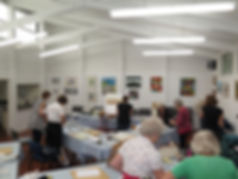 Artist Claudia Slaney - painting workshop held at the Fellowship of Artists