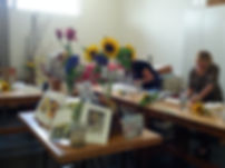 Watercolour workshop with Claudia Slaney, loose floral abstracts