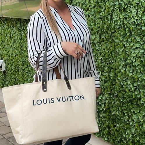 LCRestore altered Natural  Garment bag  tote