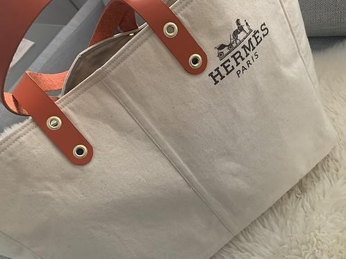 Up-cycle LCRestore Hermes Garment-Bag tote