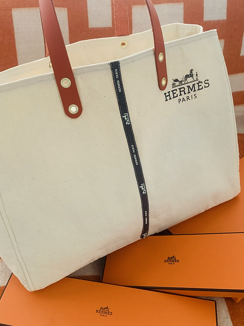 Up-cycle LCRestore Hermes Garment-Bag tote