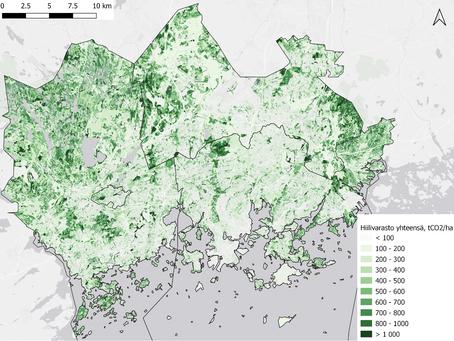Suomen kuntien hiilivarat kartalle