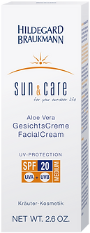 SUN & CARE Aloe Vera GesichtsCreme SPF 20