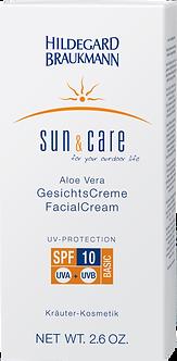 SUN & CARE Aloe Vera GesichtsCreme SPF 10