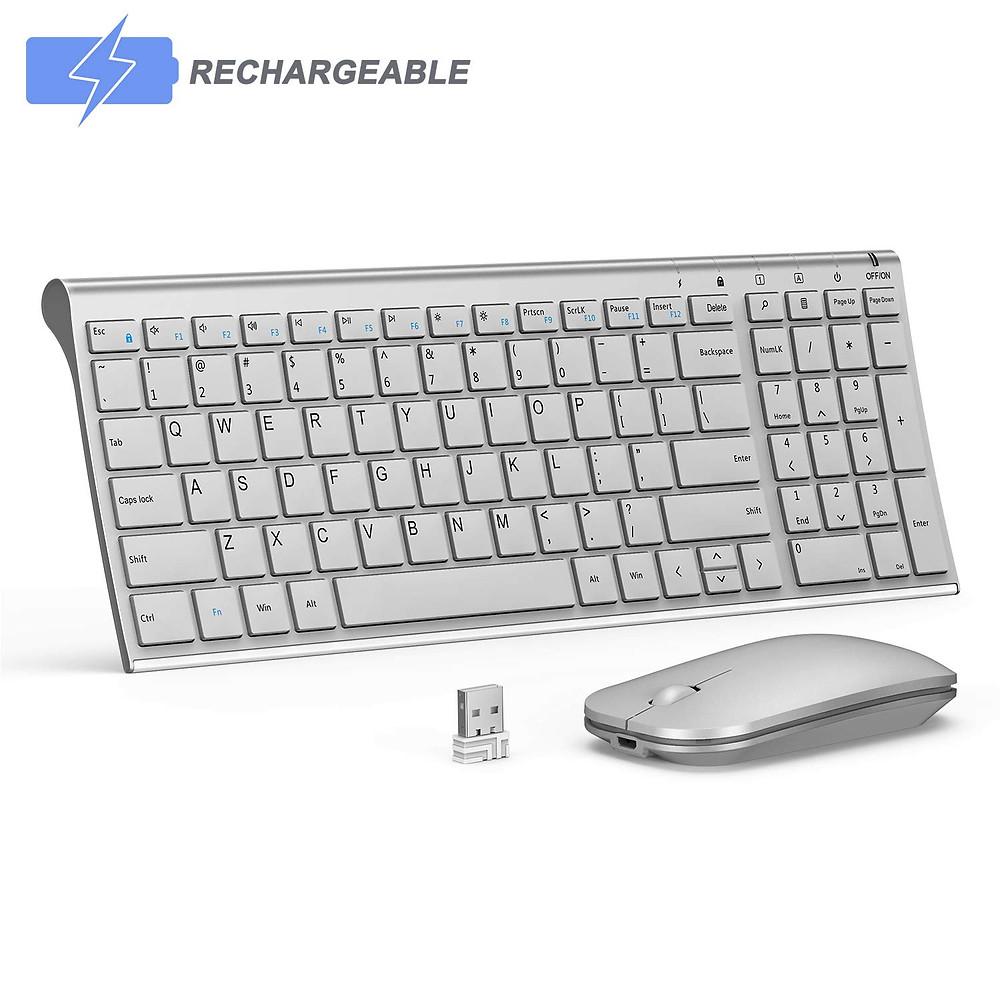 A Seenda Tenkeyless Wireless Keyboard with Mouse Combo