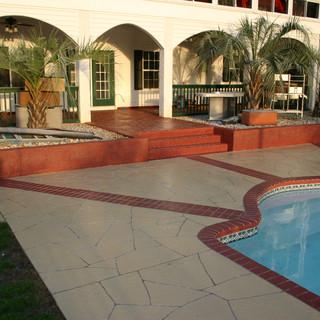 Exterior decorative concrete - Exterior