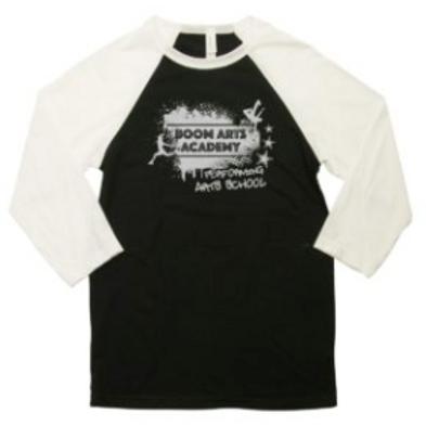 Boom Arts Academy Logo 3/4 Sleeve Unisex Baseball T-shirt