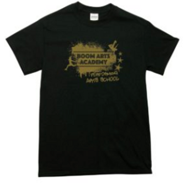 Boom Arts Academy Gold Logo Mens Fit T-shirt