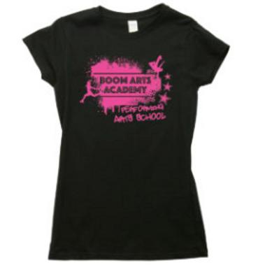 Boom Arts Academy Ladies Fit Pink Logo T-Shirt