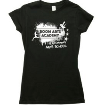 Boom Arts Academy Logo Ladies Fit T-shirt