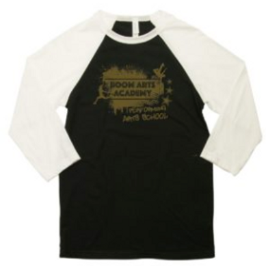 Boom Arts Academy Gold Logo 3/4 Sleeve Unisex Baseball T-shirt