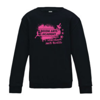 Boom Arts Academy Pink Logo Kids Fit Sweatshirt