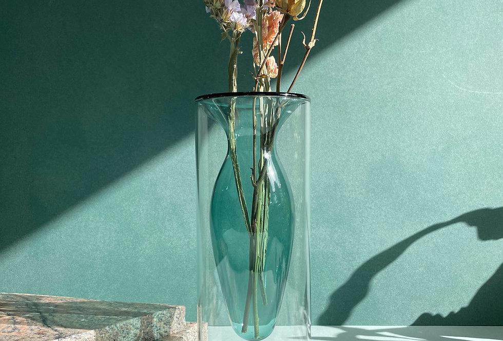 UVULA - Double layer transparent vase