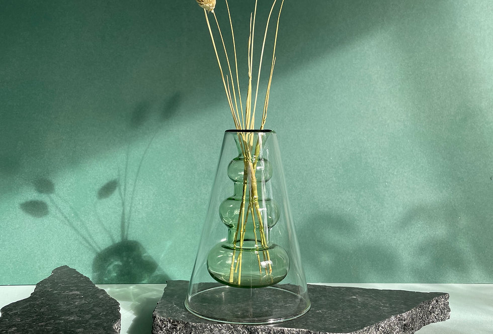 FERN - Double layer transparent vase