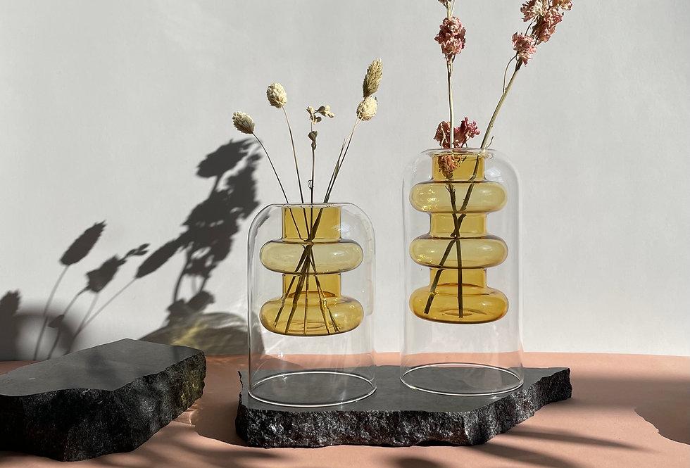 SOLAR - Double layer transparent vase