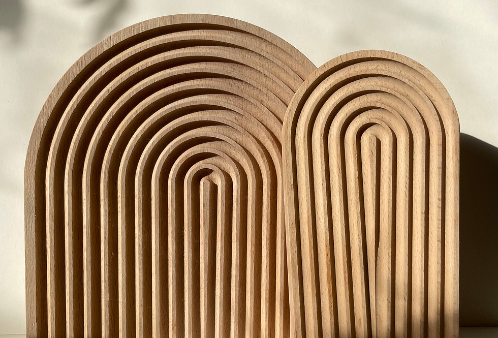 CURVED PATTERN WOODEN BOARD