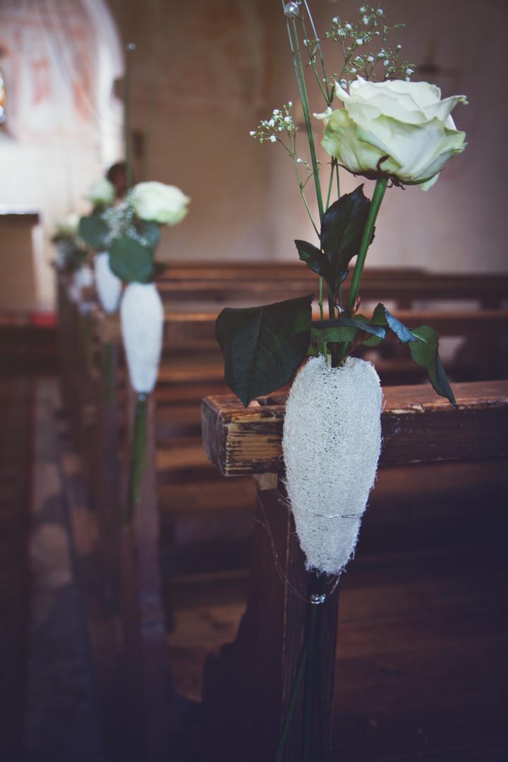 Dekoration in der Kirche.