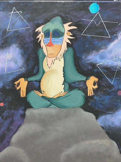 Meditating Rafiki