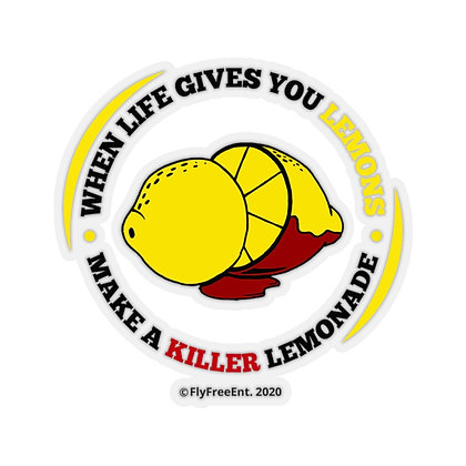 When Life Gives You Lemons Circular Logo-Cutout Stickers